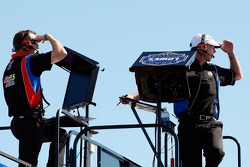 Alan Gustafson, crew chief for Mark Martin, Hendrick Motorsports Chevrolet, and Chad Knaus, crew chief for Jimmie Johnson, Hendrick Motorsports Chevrolet