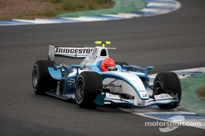 2010: pruebas del coche de GP2