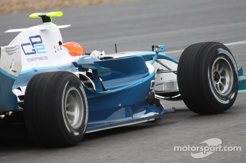 Michael Schumacher teste une GP2