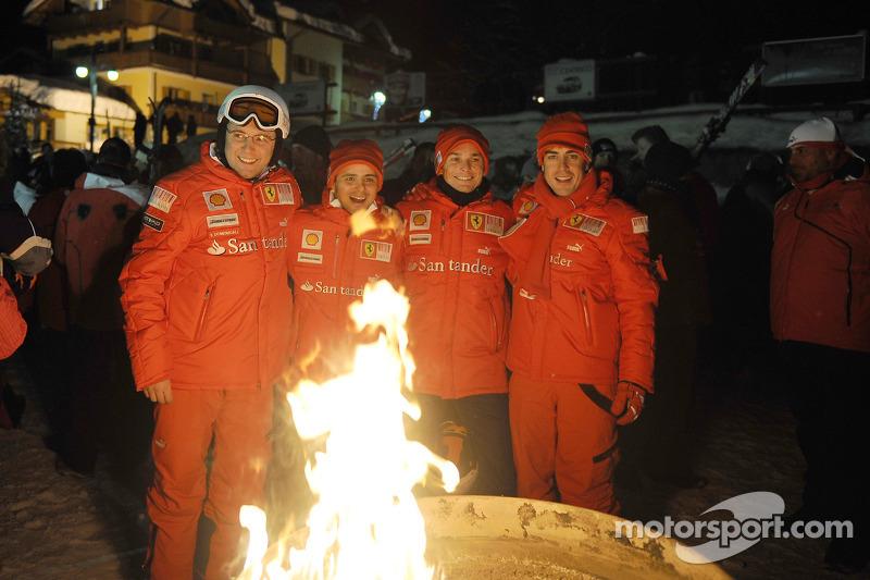 Stefano Domenicali, Felipe Massa, Giancarlo Fisichella et Fernando Alonso