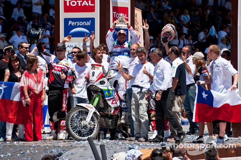 Podium catégorie MotosDakar 2010 : Francisco Lopez Contardo, troisième