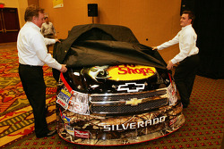 Richard Childress and grandson Austin Dillon unveil the Bass Pro Shops No. 3 Richard Childress Racing NASCAR Camping World Truck that Dillon will drive in 2010