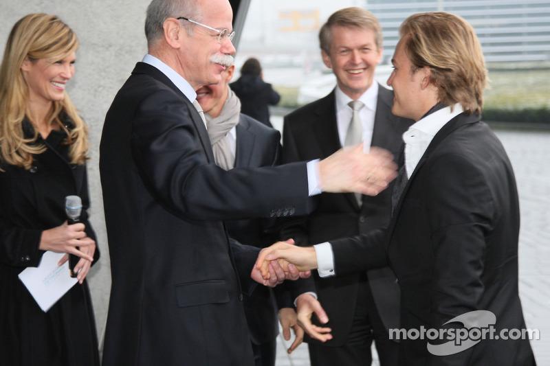 Dr Dieter Zetsche, Michael Schumacher et Nico Rosberg
