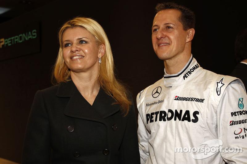 Michael Schumacher met vrouw Corina