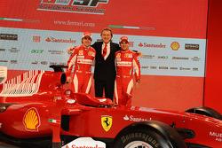 Felipe Massa, Luca di Montezemolo et Fernando Alonso
