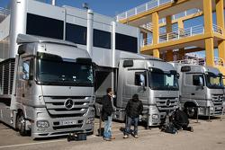 Mercedes GP trucks