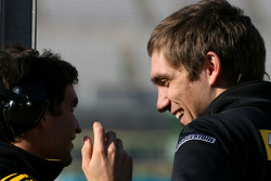 Jerome D'Ambrosio, Test Driver, Renault F1 Team and Vitaly Petrov, Renault F1 Team