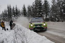 Khalid Al Qassimi en Michael Orr, Ford Focus RS WRC 08, BP Ford Abu Dhabi World Rally Team