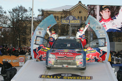 Podium: Sébastien Loeb en Daniel Elena, Citroën C4, Citroën Total World Rally Team