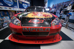 Champion's breakfast: the 2010 Daytona 500 winning Earnhardt Ganassi Racing Chevrolet of Jamie McMurray inside the Daytona 500 Experience building where it will remain for a full year