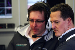 Andrew Shovlin, Mercedes GP Petronas, Senior Race Engineer van Michael Schumacher, Michael Schumacher, Mercedes GP Petronas