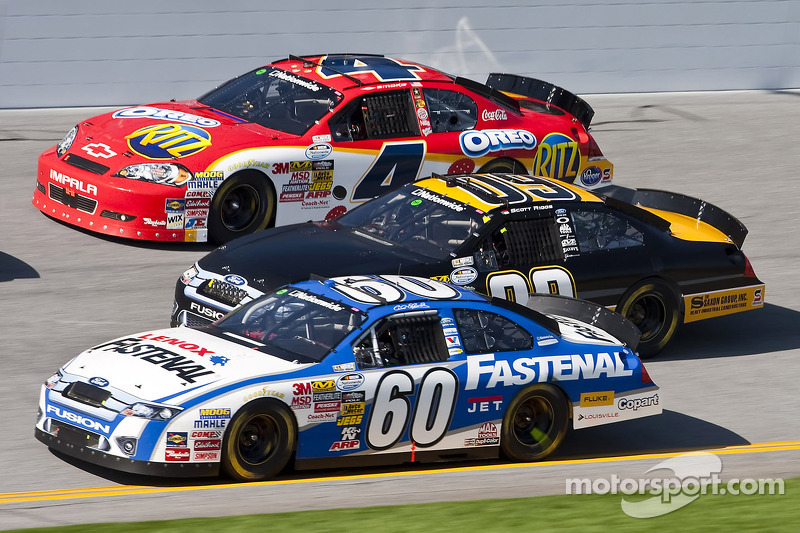 Carl Edwards, Scott Riggs en Tony Stewart
