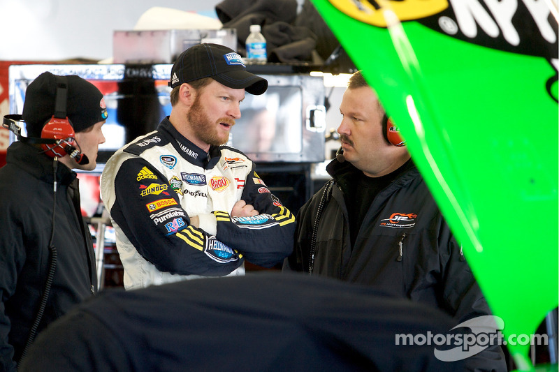 Dale Earnhardt Jr. met Tony Eury Jr.