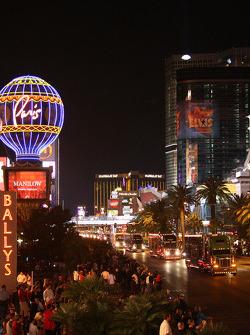 Haulers parade on the Las Vegas Strip