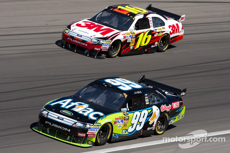 Carl Edwards, Roush Fenway Racing Ford en Greg Biffle, Roush Fenway Racing Ford