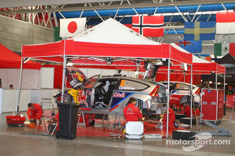 Zone de service du Citroën Junior Team