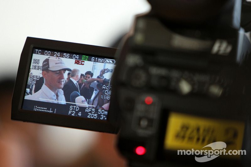 Michael Schumacher, Mercedes GP does tv interviews