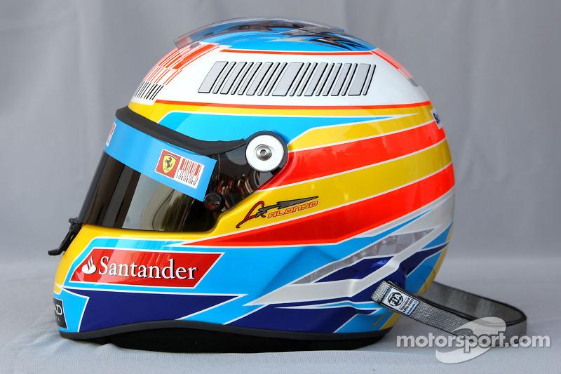 Casco de Fernando Alonso en 2010
