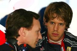 Christian Horner, Red Bull Racing, Sporting Director en Sebastian Vettel, Red Bull Racing