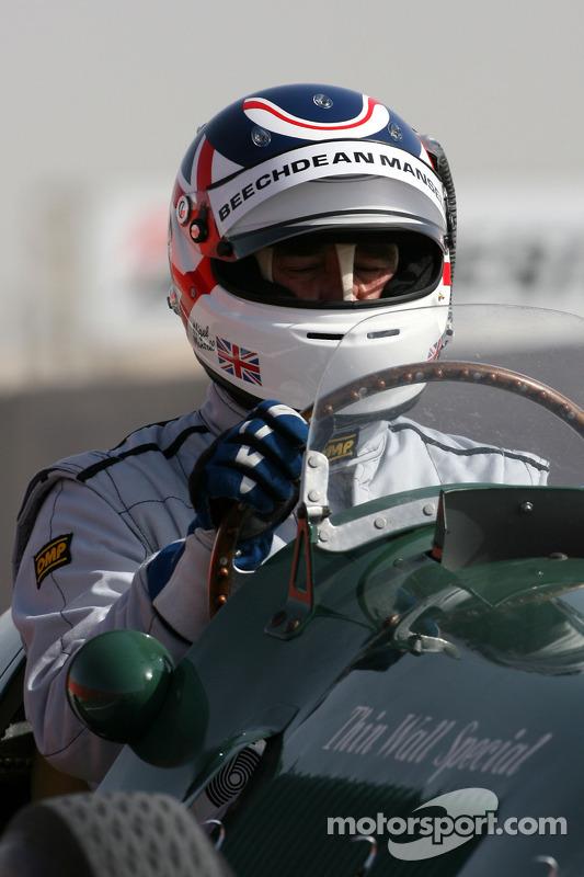 Nigel Mansell, 1992 F1 wereldkampioen in de 1950 Ferrari 125 GPC