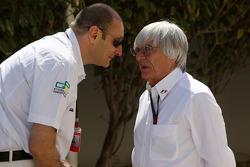 Bruno Michel GP2 CEO talks with Bernie Ecclestone
