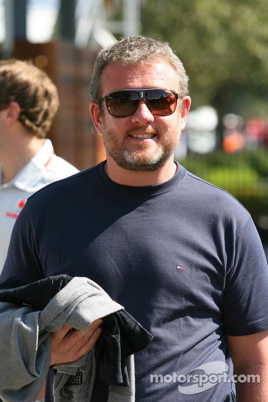 Richard Goddard, manager Jenson Button, McLaren Mercedes
