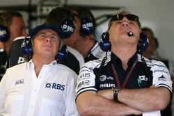 Sir Jackie Stewart, RBS Representitive ve Ex F1 Dünya Şampiyonu, Patrick Head, WilliamsF1 Team, Direktör, mühendising