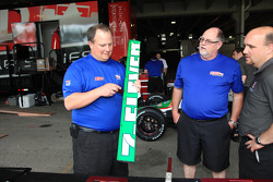 Car of Tony Kanaan, Andretti Autosport at technical inspection