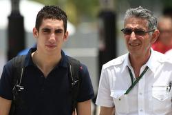 Sebastien Buemi, Scuderia Toro Rosso and his father Toni Buemi