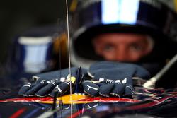 The gloves of Sebastian Vettel, Red Bull Racing