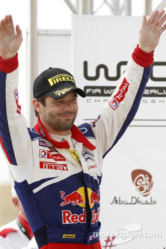Podium: winnaar Sébastien Loeb