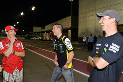 Nicky Hayden, Ducati Marlboro Team, Ben Spies, Monster Yamaha Tech 3 and Colin Edwards, Monster Yamaha Tech 3