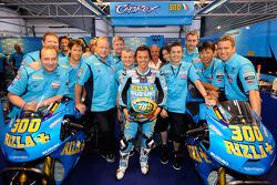 Loris Capirossi, Rizla Suzuki MotoGP celebrates 300th Grand Prix