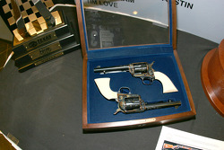 The Turnbull 45 Colt Style Pistols that the winner of the Samsung Mobile 500 will win and fire in Victory Lane