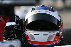 helmet and gloves of Marco Wittmann, Signature, Dallara F308 Volkswagen