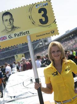 Grid girl of Gary Paffett, Team HWA AMG Mercedes C-Klasse