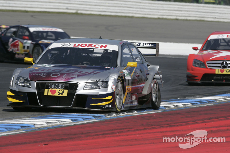 Martin Tomczyk, Audi Sport Team Abt Audi A4 DTM with the flat Tyre