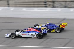 Hideki Mutoh, Newman/Haas Racing leads Mike Conway, Dreyer and Reinbold Racing