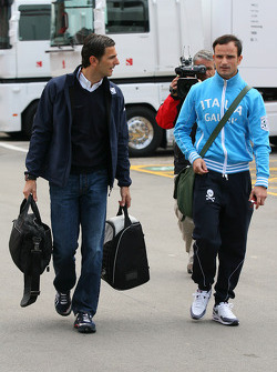Pedro de la Rosa, BMW Sauber F1 Team and Vitantonio Liuzzi, Force India F1 Team
