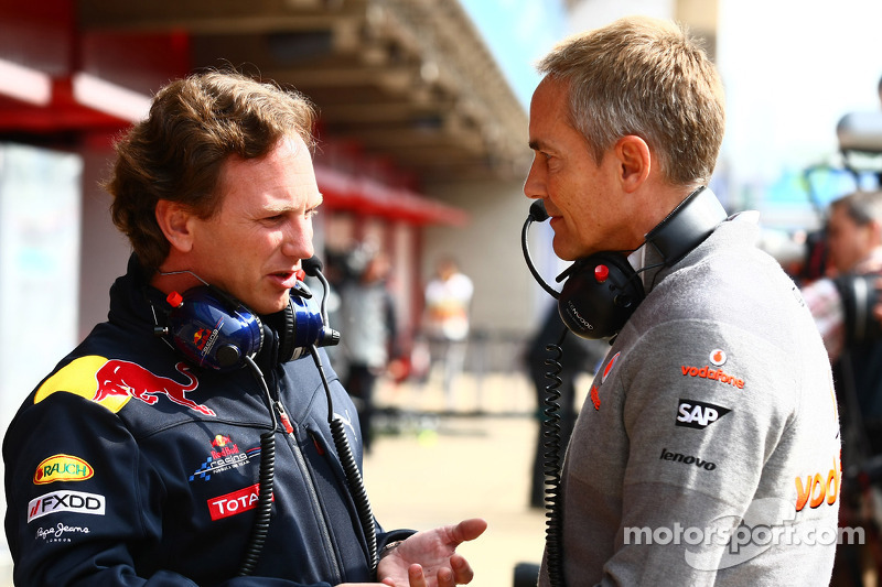 Christian Horner, Red Bull Racing, Sporting Director en Martin Whitmarsh, McLaren, Chief Executive Officer