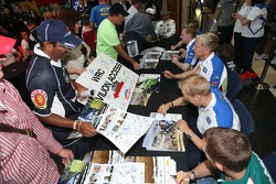 The BP Ford Abu Dhabi World Rally Team attend the official autograph session