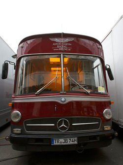 Vintage Mercedes truck in the paddock
