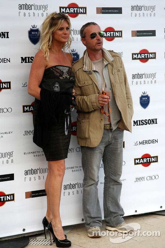 Rachel Hunter, Eddie Irvine, Amber Lounge Fashion Show