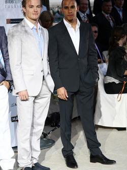 Nico Rosberg, Mercedes GP Petronas, Lewis Hamilton, McLaren Mercedes, Amber Lounge Fashion Show