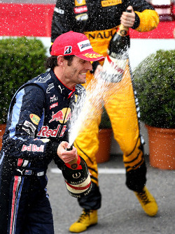 Podium: Mark Webber, Red Bull Racing