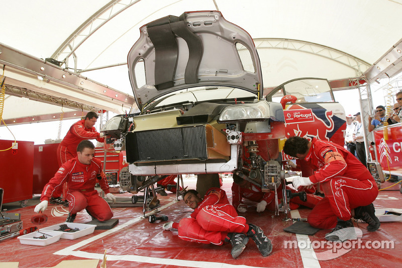 Citroën Total World Rally Team servicegebied