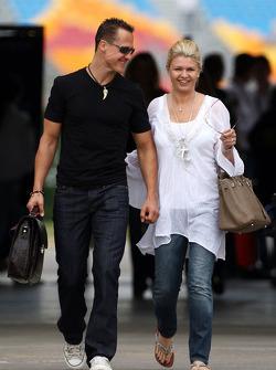 Michael Schumacher, Mercedes GP, Corina Schumacher, Corinna, Wife of Michael Schumacher