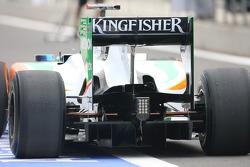 Force India Rear diffuser en achtervleugel
