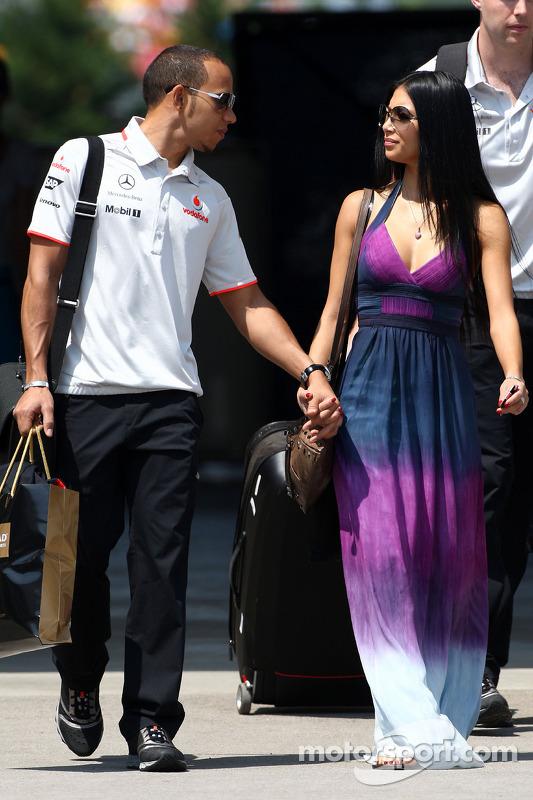 Lewis Hamilton, McLaren Mercedes, Nicole Scherzinger, zangeres van de Pussycat Dolls en vriendin van Lewis Hamilton