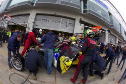 Pit stop for #8 Haribo Team Manthey GT3 Porsche GT3 R: Lance David Arnold, Christian Menzel, Richard Westbrook, Alexandros Margaritis